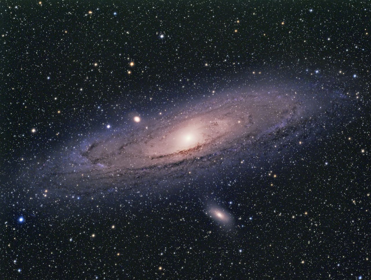 Andromeda Galaxy Full M31 Wa Chur Ed Observatory
